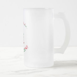 forget about dasher frosted glass mug
