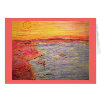 forget about it and go fishing! note card