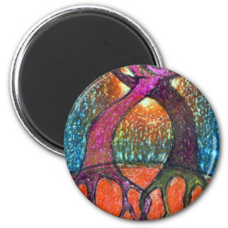 Forget  About  Light 6 Cm Round Magnet