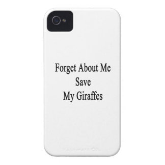 Forget About Me Save My Giraffes iPhone 4 Case
