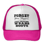 Forget Glass Slippers, This Princess Wears Boots Cap
