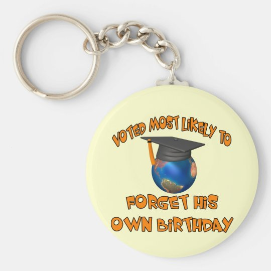 Forget His Birthday Basic Round Button Key Ring