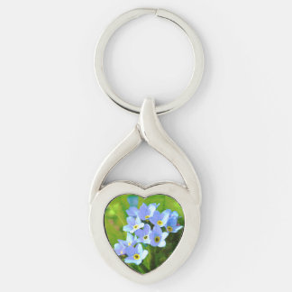 Forget ME emergency Silver-Colored Twisted Heart Key Ring