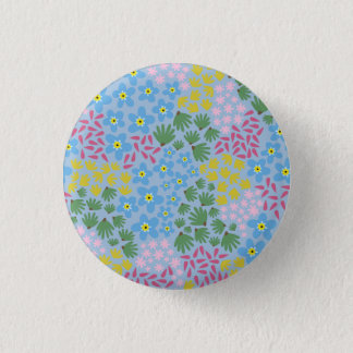 Forget Me Not 3 Cm Round Badge