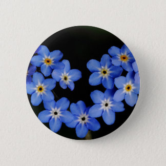 Forget me not 6 cm round badge