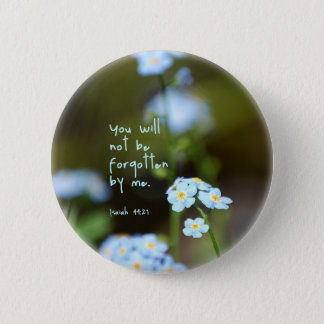 Forget-me-not 6 Cm Round Badge