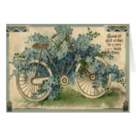 Forget Me Not Bicycle Birthday Greeting Card