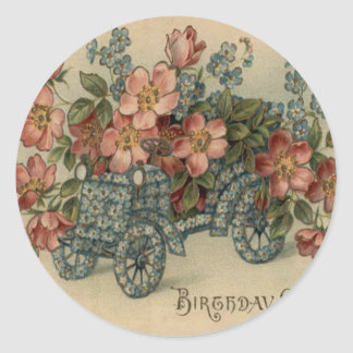 Forget Me Not Car Flowers Round Sticker