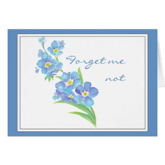 Forget me not Custom Watercolor Garden Flower Card