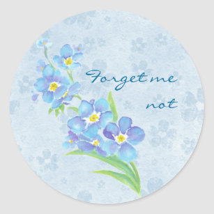 Forget me not Custom Watercolor Garden Flower Classic Round Sticker