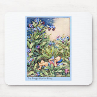 Forget-Me-Not Fairy Mouse Mat