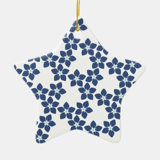Forget-Me-Not Floral Pattern Christmas Ornament