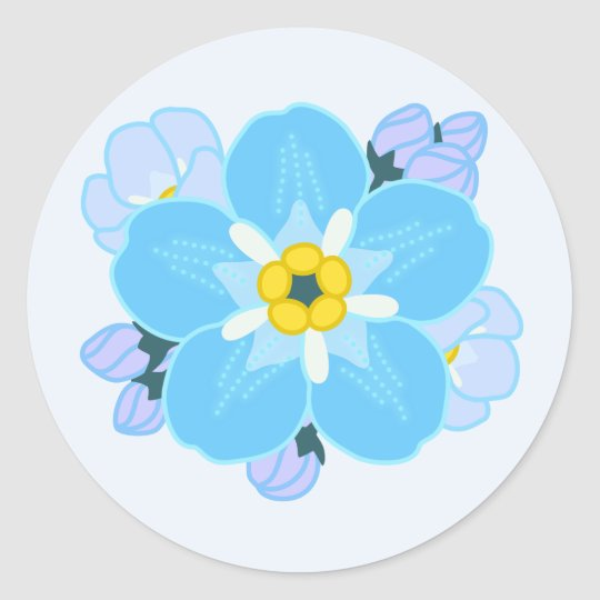 Forget-me-not Flower Classic Round Sticker