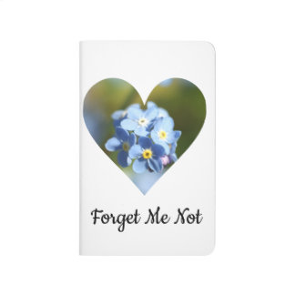 Forget-Me-Not Flower Cluster Filled Heart Journal