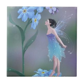Forget Me Not Flower Fairy Art Tile