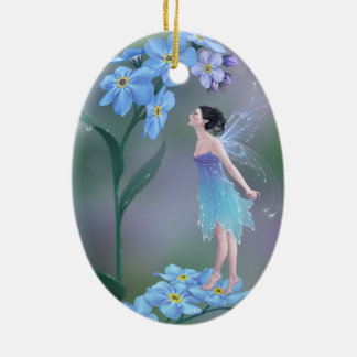 Forget-Me-Not Flower Fairy Ornament