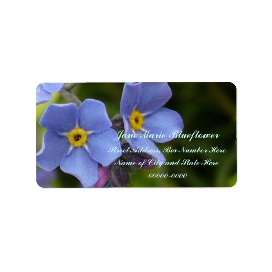 Forget-me-not Flowers, Myosotis Label