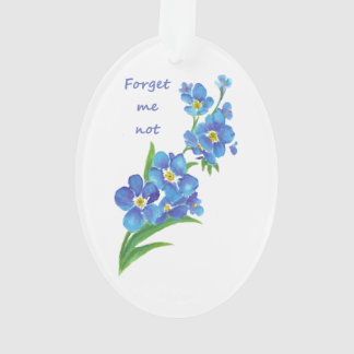 """Forget me Not"" Flowers & Quote"