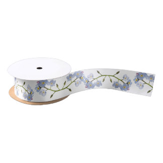 Forget Me Not flowers Satin Ribbon