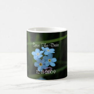Forget Me Not Flowers Save The Date Coffee Mug
