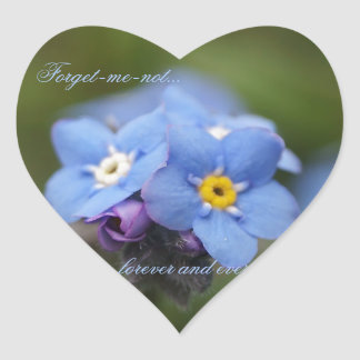 Forget-me-not forever and ever! heart sticker