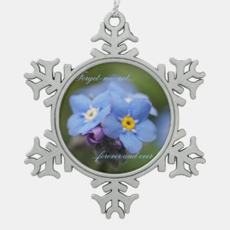 Forget-me-not forever and ever! pewter snowflake decoration