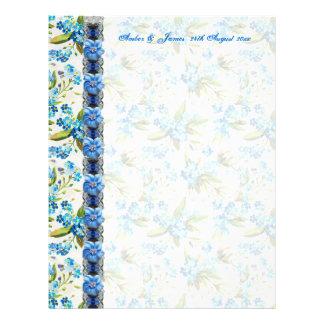 Forget me Not Guest Message Paper 21.5 Cm X 28 Cm Flyer