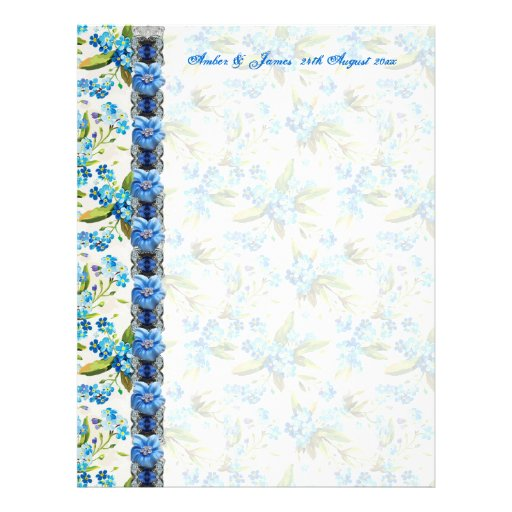 Forget me Not Guest Message Paper Full Color Flyer