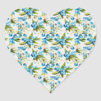 Forget-Me-Not Heart Sticker
