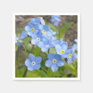 Forget Me Not Napkin Paper Napkin
