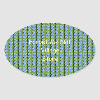 Forget Me Not Oval Sticker