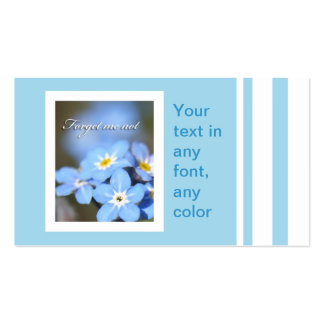 Forget-Me-Not photo on blue Business Card Templates