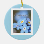 Forget-Me-Not photo on blue Ornament