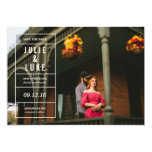 Forget-Me-Not Save the Date 13 Cm X 18 Cm Invitation Card