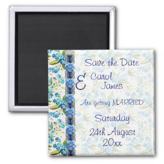 Forget me Not Save the Date Magnet