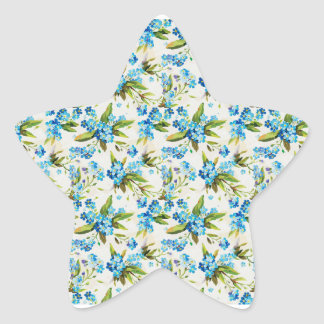 Forget-Me-Not Star Sticker