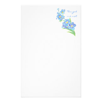 Forget me not, Watercolor Flower Garden Stationery