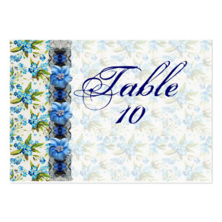 Forget Me Not Wedding Seating Cards Business Card Template
