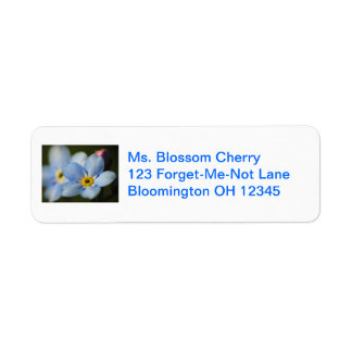 Forget-Me-Nots 12 Address Label