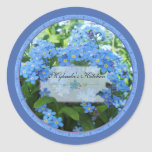 Forget me nots 2 spice jar labels stickers