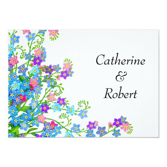 Forget Me Nots Garden Wedding Invitations