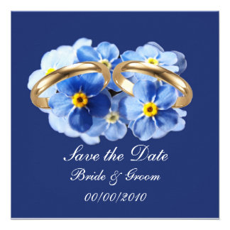 Forget Me Nots Save the Date card Personalized Invites