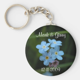 Forget Me Nots Save The Date Keychain