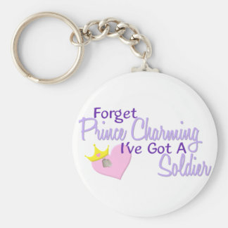 Forget Prince Charming - Soldier Basic Round Button Key Ring