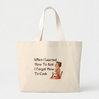 Forgetful Knitter Large Tote Bag