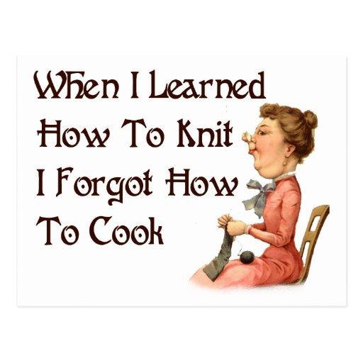 Forgetful Knitter Postcard