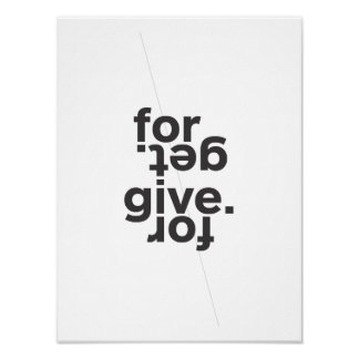 Forgive. \ Forget. Poster
