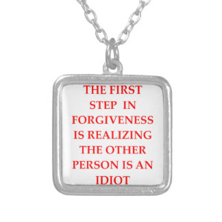 FORGIVE SILVER PLATED NECKLACE