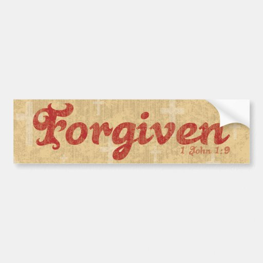 Forgiven Bumper Sticker