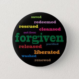 Forgiven Christian button (black)